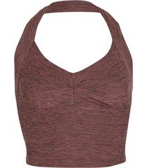 prana women's zandra yoga bralette - raisin heather medium cotton shirt moisture wicking