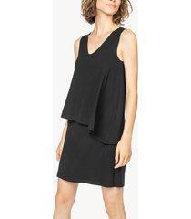 lilla p double layer v-neck dress