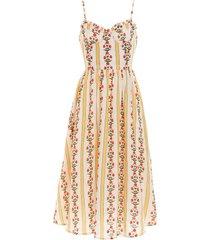 acacia carmina linen midi dress