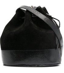 hunting season lizard-effect bucket bag - black