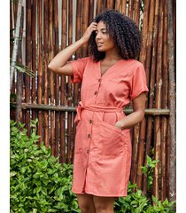 san sebastian cotton button down mini shirt dress