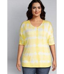 lane bryant women's tie-dye dolman sleeve tee 22/24 sunshine tie dye