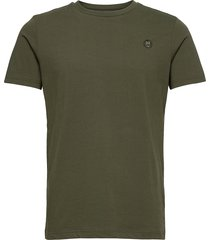 alder owl badge t-shirt - gots/vega t-shirts short-sleeved grön knowledge cotton apparel