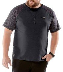 camiseta raglan plus no stress preta - kanui