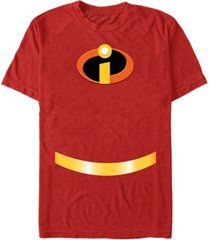 disney pixar men's incredibles logo suit costume short sleeve t-shirt