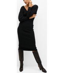 mango women's ribbed jersey dress