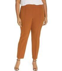 plus size women's lafayette 148 new york acclaimed gramercy stretch pants, size 24w - metallic