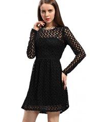 vestido calado negro nicopoly