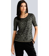 shirt alba moda zwart::goudkleur