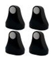 kit 4 trava porta aparadores de imã fixadores magnéticos preto
