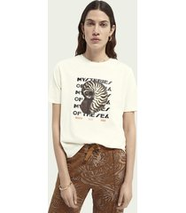 scotch & soda boxy fit grafisch t-shirt