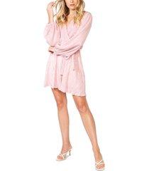 bardot bellissa pleat faux-wrap dress