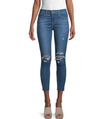 levi's women's 710 supper skinny jeans - blue - size 26 (2-4)