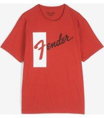 lucky brand men's fender retro logo short sleeve t-shirt