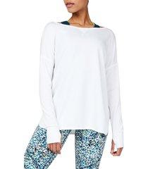 women's sweaty betty simhasana drape back sweatshirt