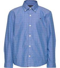 mini print hilfiger overhemd blauw tommy hilfiger