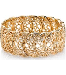 2028 rose gold tone half circle filigree bracelet