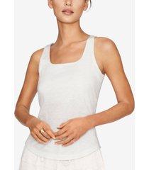 b new york cotton built-in bra tank top