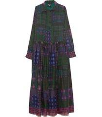 baba dress in dark tartan