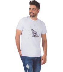 camiseta pmp slim perro astronauta estampacion propia blanca