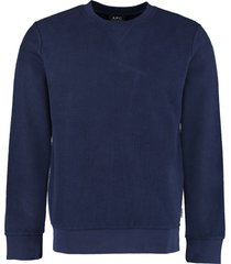 a.p.c. cotton crew-neck sweatshirt