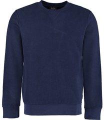 a.p.c. cotton crew-neck sweatshirt