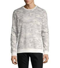 camo-print cotton-blend sweatshirt