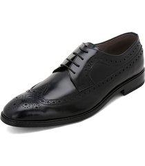 zapatos negros la corola oxford