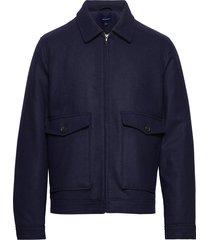 d1. the wool windcheater ulljacka jacka blå gant