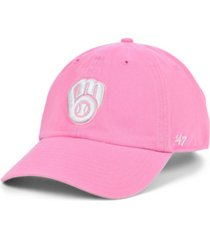 '47 brand milwaukee brewers pink clean up cap