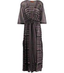 zigzag knit dress