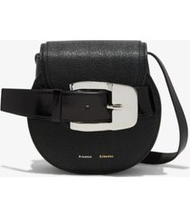 proenza schouler buckle mini crossbody bag black one size