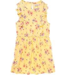 vestido manga corta amarillo  offcorss