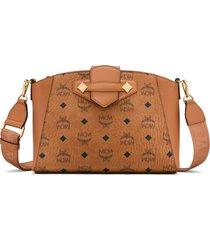 mcm small essential visetos coated canvas crossbody bag -