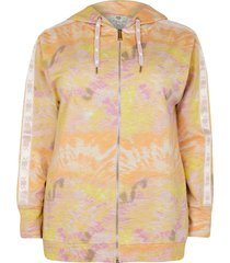 river island womens plus pink intimates tie dye hoodie