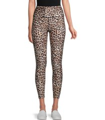 peixoto women's wild leopard active leggings - leopard print - size xs