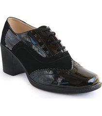zapato charol negro tacon 37213022negro mujer