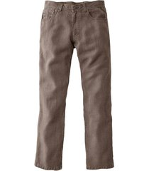 jeans van hennepvezel, tabak 34/34