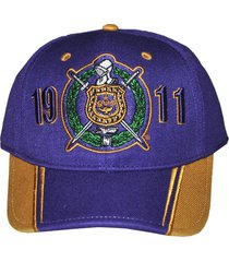 omega psi phi mens two-tone adjustable cap purple