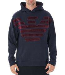 oversized eagle hoodie sweat - blue 6g1mg1-1j07z blu