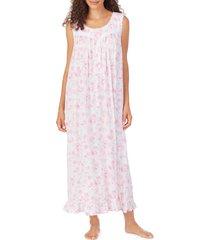 women's eileen west floral print jersey long nightgown