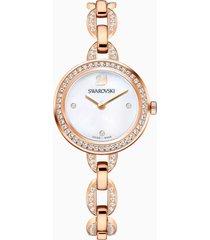 orologio aila mini, bracciale di metallo, pvd oro rosa