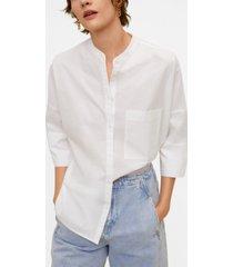 mango women's oversize poplin shirt