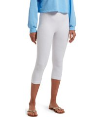 hue women's reversible french terry ultra high waist capri legging