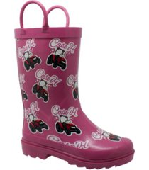 case ih toddler girls big rubber boots