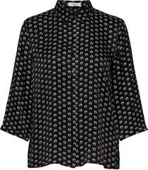 blouse 3/4-sleeve blus långärmad svart gerry weber edition