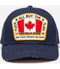 dsquared2 men's flag baseball cap - navy