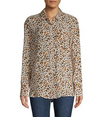 animal-print long-sleeve shirt
