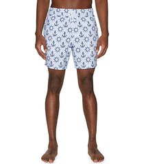 nautical-print drawstring swim shorts