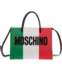 borsa donna a mano tracolla italian slogan